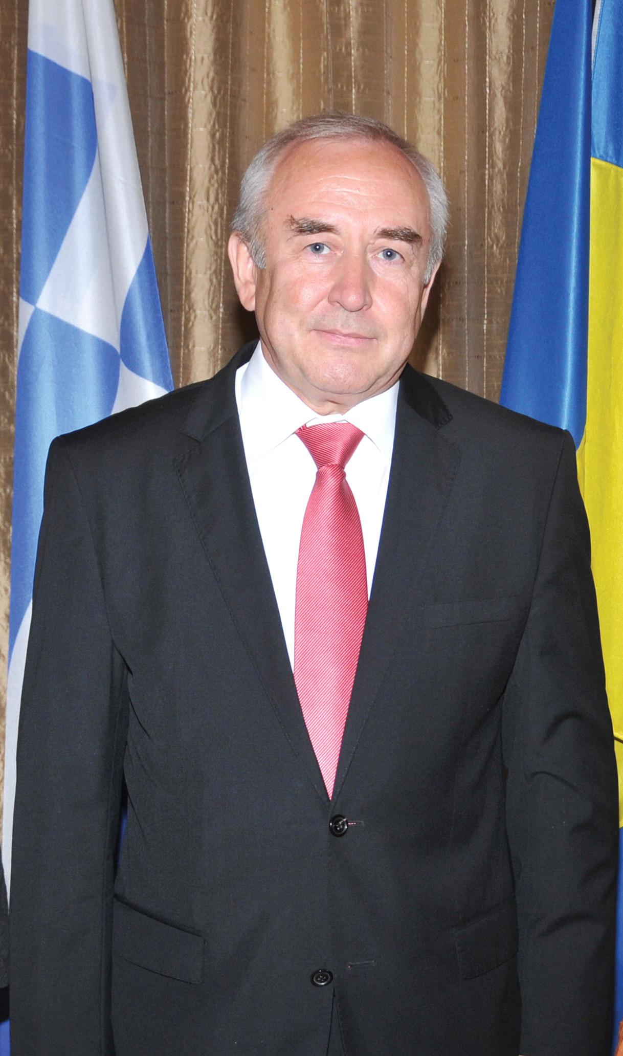 H.E. the Ambassador of Ukraine to the Hellenic Republic, Volodymyr Shkurov