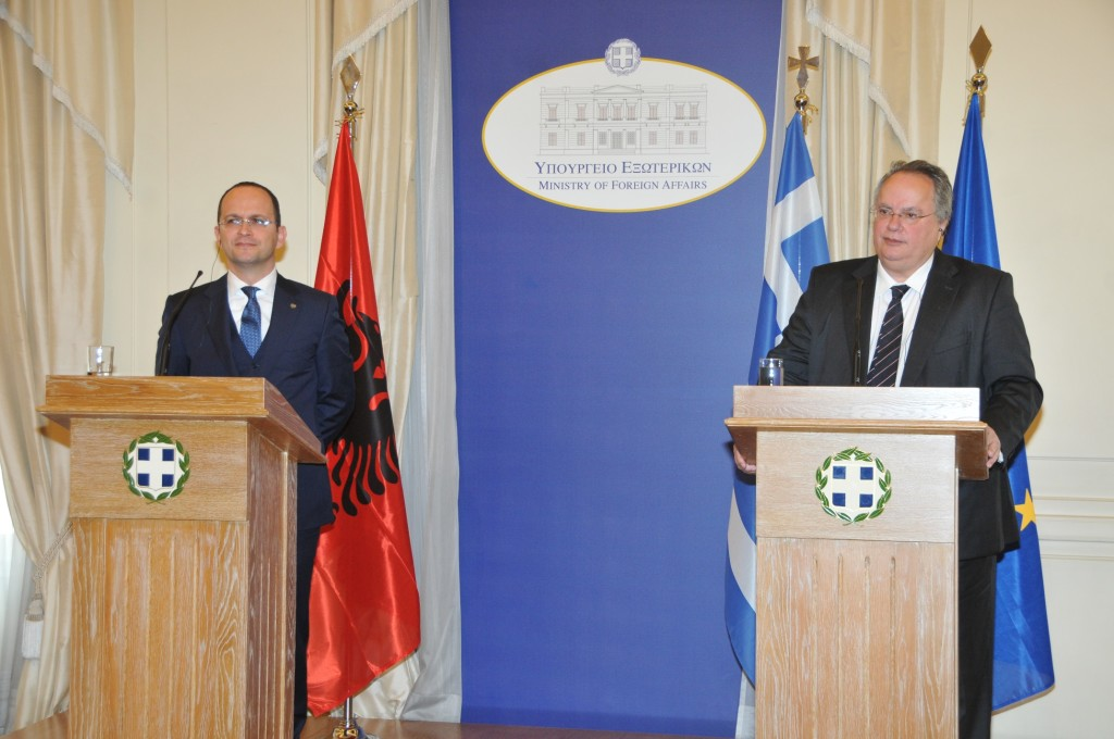 Foreign Minister of Albania in Athens