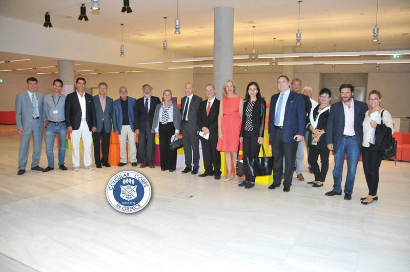 Consular Corps of Greece Tours Niarchos Foundation