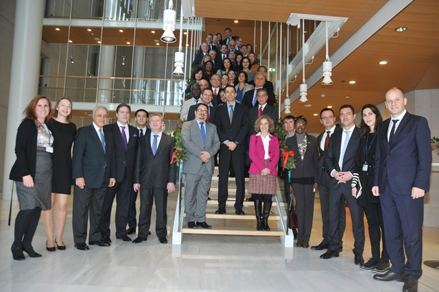 The Diplomatic Corps visits the Stavros Niarchos Foundation Cultural Center