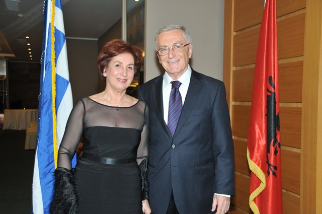 Ambassadorial couple of Albania host National Day reception
