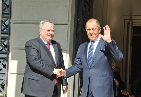 Russian Foreign Minister in Athens for talks
