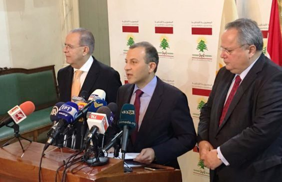 Foreign Ministers of Lebanon, Cyprus and Greece meet in Beirut