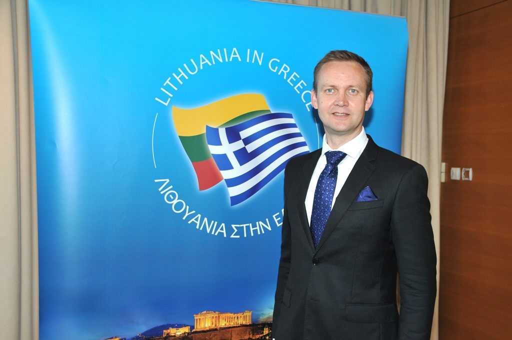 Dual celebration at the Lithuanian reception