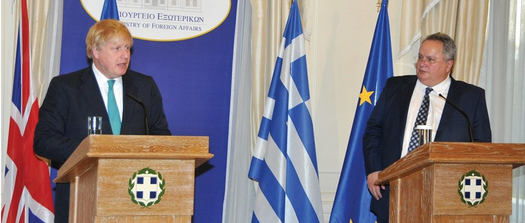British Secretary of State in Athens for talks with Greek counterpart