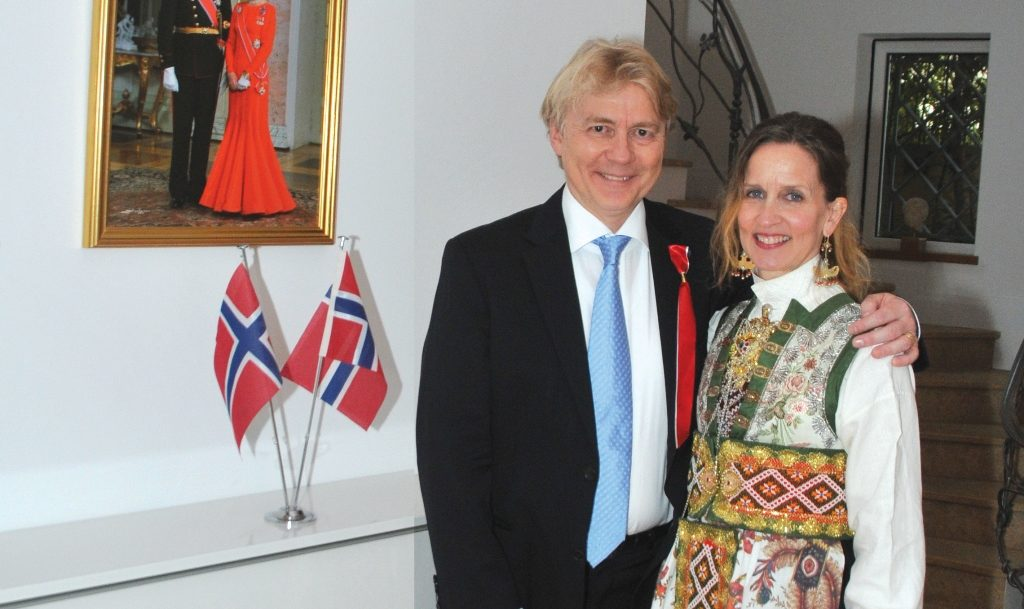 The Kingdom of Norway marks National Day with a joyous reception