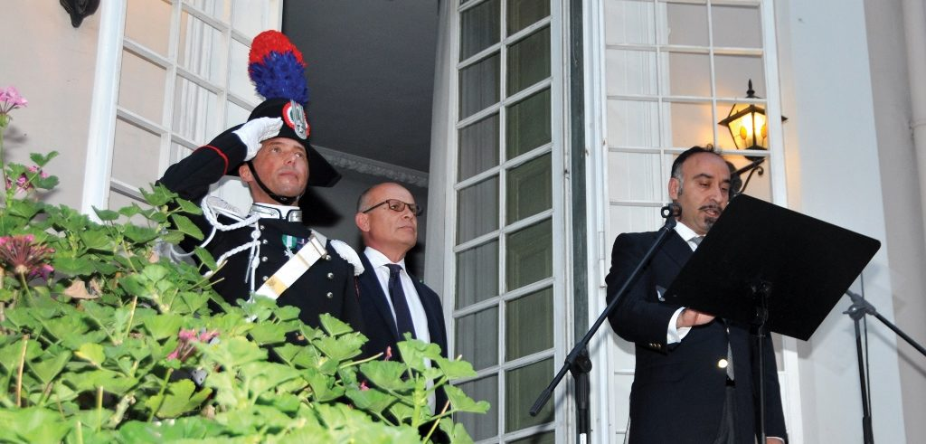 Garden party marks the National Day of Italy