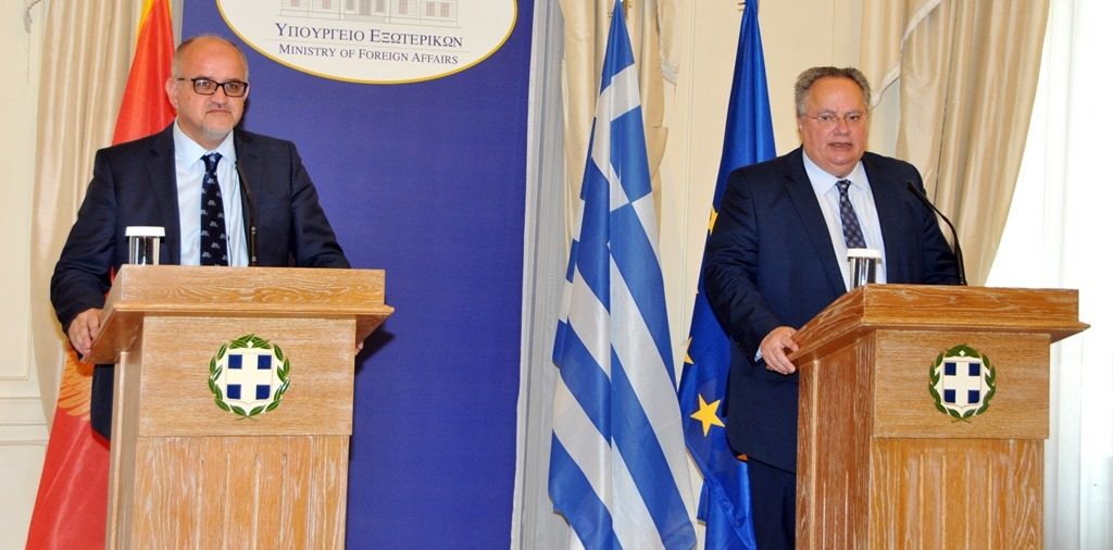 Foreign Minister of Montenegro meets with Greek counterpart