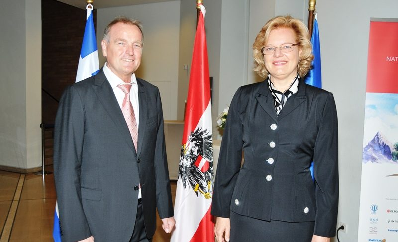 A glorious reception for the National Day of Austria