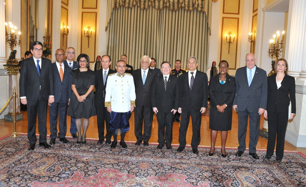 The newly-appointed Envoys of Namibia, El Salvador, Cambodia, Bolivia, Colombia, Mongolia & Botswana