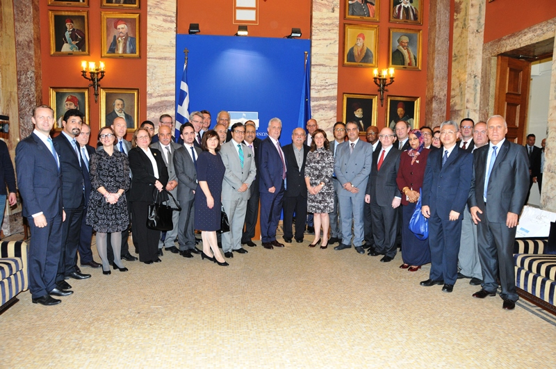 The Speaker of the Hellenic Parliament receives the Heads of Diplomatic Missions in Athens