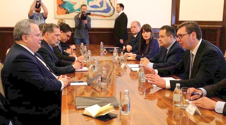 Foreign Minister meets with counterparts in: Serbia, FYROM and Kosovo
