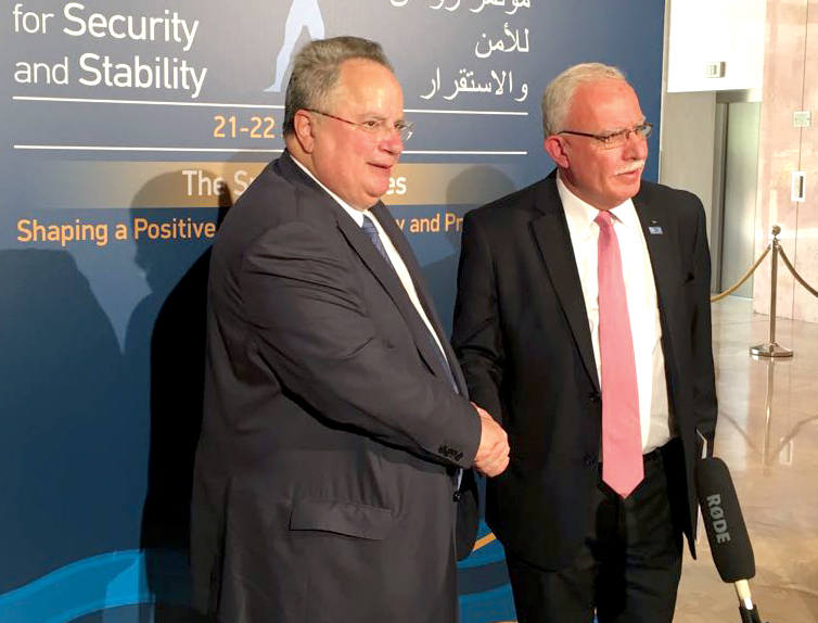 Minister of Foreign Affairs of Palestine Riyad al-Maliki