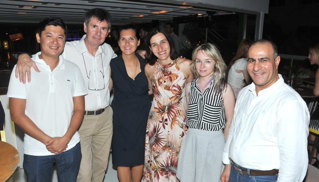 Diplomats enjoy a cool evening in Athens