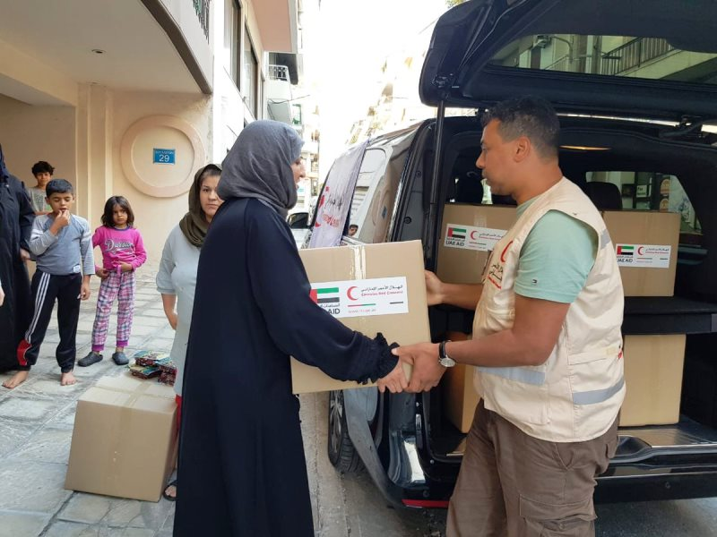The UAE Embassy in Athens distributes aid relief to several camps, schools and churches throughout G