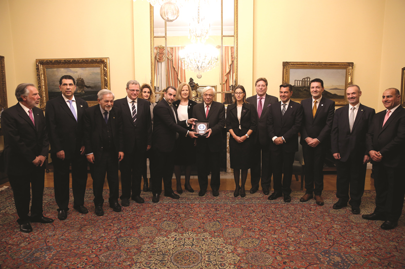 CCG visits the President of the Hellenic Republic