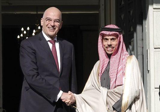 Minister of Foreign Affairs of Saudi Arabia in Athens for talks