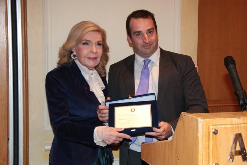 The CCG awards Marianna Vardinoyannis at New Year dinner