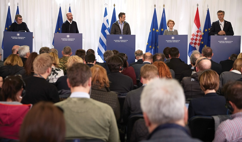 Protecting the EU external borders – European leaders express solidarity with Greece