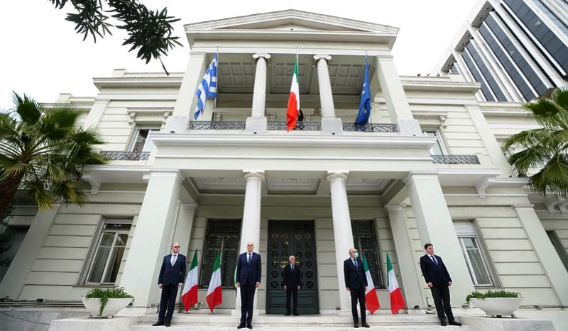 Greece hoists Italian flag in symbolic solidarity during the pandemic