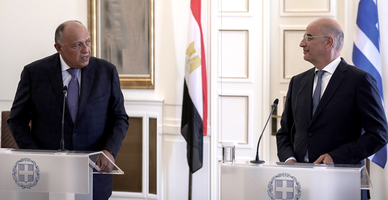 Egyptian Foreign Minister meets with the Greek leadership in Athens