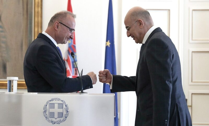 Foreign Minister of Croatia in Athens for talks