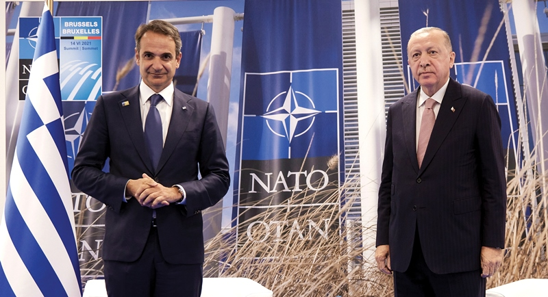 Greek Prime Minister and Turkish President meet in Brussels